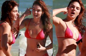 Isis Valverde curte praia entre amigas e com o marido, André Resende. Veja fotos