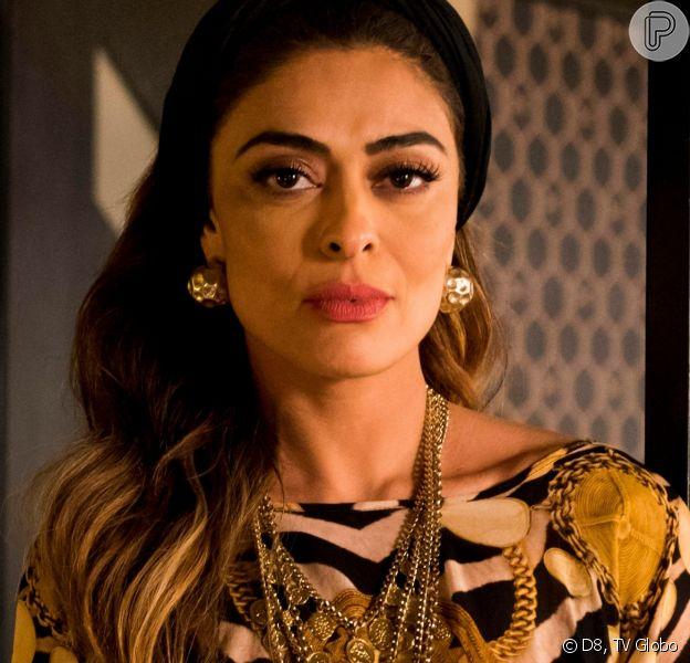 Juliana Paes comenta reação após cena de flagra na novela 'A Dona do Pedaço'