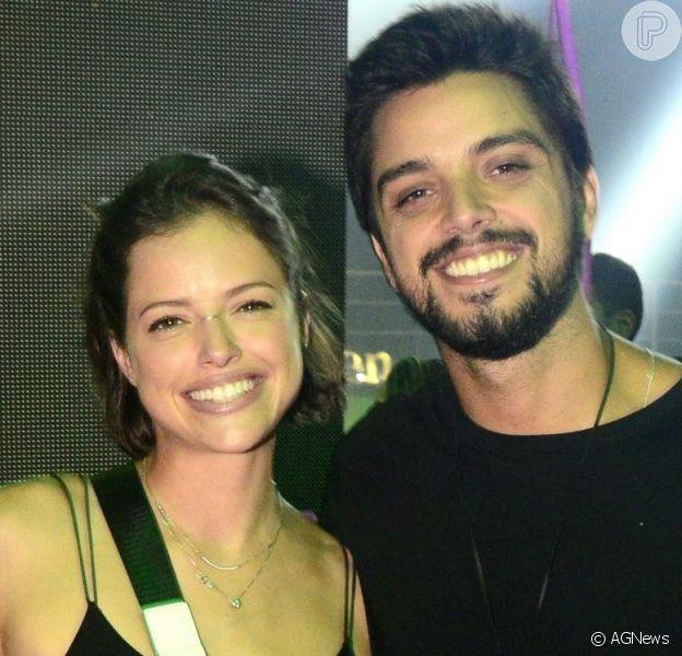 Rodrigo Simas relembra início de sentimento pot Agatha Moreira ao se declarar no 'Domingão do Faustão', em 1º de setembro de 2019