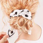 Blogueira ensina tutorial de penteados com lenço para cabelo cacheado. Aprenda!