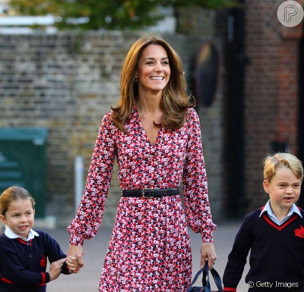 Kate Middleton e Príncipe William levam filhos para 1º dia na escola nesta quinta-feira, dia 05 de setembro de 2019