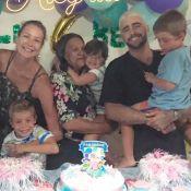 Gêmeos de Luana Piovani e Scooby ganham festa 'Fundo do Mar': 'Família completa'