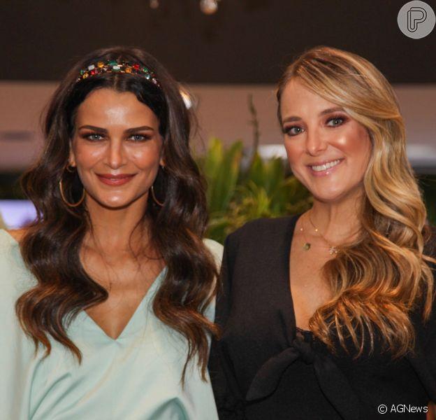 Ticiane Pinheiro retoma agenda após dar à luz Manuella e faz 1° evento