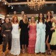A influencer Gabi Lopes chamou atenção com um look longo de renda branco de R$ 529