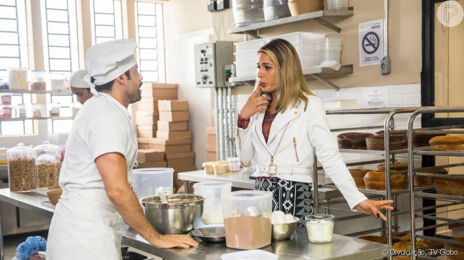 Abel (Pedro Carvalho) e Britney (Glamour Garcia) vão ficar juntos no fim da novela 'A Dona do Pedaço', indicou ator português em entrevista ao 'Encontro com Fátima Bernardes': 'Vai acontecer'