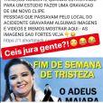 Fãs de Maiara lamentam morte da cantora neste domingo, dia 15 de setembro de 2019