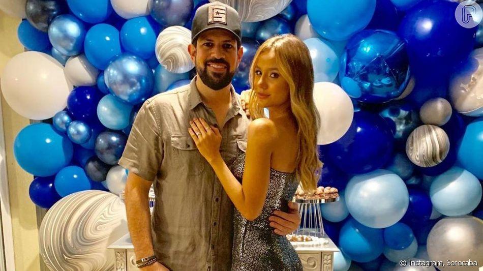 Sorocaba, da dupla com Fernando, ganhou festa surpresa da namorada nesta segunda-feira, 16 de setembro de 2019