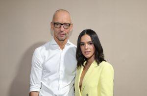 Sandália trend e terno amarelo: o look de Bruna Marquezine no desfile da Boss