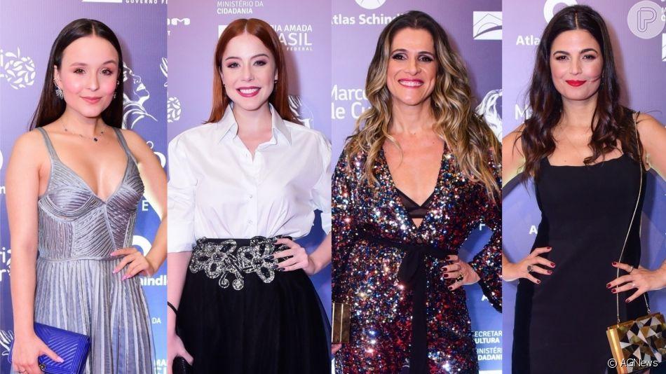 Looks das famosas: Larissa Manoela, Bia Arantes, Ingrid Guimarães e Emanuelle Araújo no Prêmio Bibi Ferreira