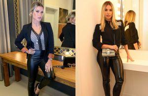 Andressa Suita usa look trendy e fãs comparam com Thyane Dantas em foto