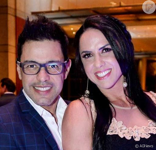 Zezé Di Camargo comemorou aniversário de 39 anos da noiva, Graciele Lacerda, em chalé