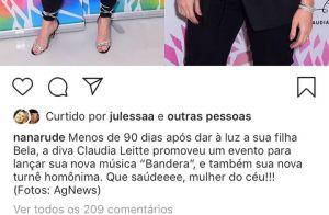 Anitta compara beleza com Claudia Leitte após ver foto: 'Fiz 30 plásticas'
