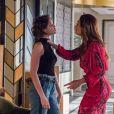 Josiane (Agatha Moreira) pedirá desculpas à mãe, Maria da Paz (Juliana Paes), em segundo encontro das duas