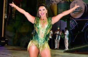 Viviane Araujo cai no samba e brilha em aniversário de 24 anos da Mancha Verde