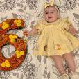 Liz, filha Thaeme Mariôto e Fábio da Lua, completou 6 meses em outubro de 2019