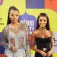 Ludmilla e a namorada, Brunna Gonçalves, passaram pelo tapete roxo do Prêmio Multishow de Música