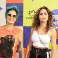 Nanda Costa e a mulher, Lan Lanh, também prestigiaram o Prêmio Multishow de Música