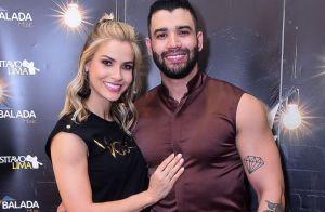 Casal fitness: Gusttavo Lima e Andressa Suita treinam juntos em viagem. Vídeo!
