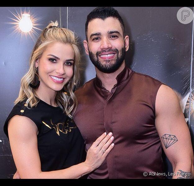 Gusttavo Lima e Andressa Suita treinam juntos em viagem nesta quinta-feira, dia 31 de outubro de 2019