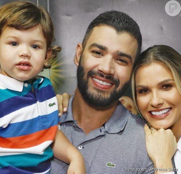 Gusttavo Lima recebeu pedido fofo do filho Gabriel, de 2 anos, em vídeo nesta quinta-feira, 7 de novembro de 2019