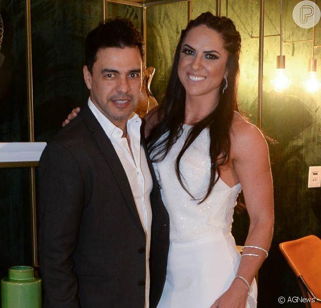 Zezé Di Camargo nega casamento com Graciele Lacerda, em 17 de novembro de 2019