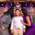 Yhudy, filho de Mileide Mihaile, foi paparicado pela família em festa