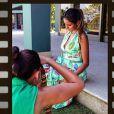 Em seu Instagram, Flávia Sampaio já havia publicado uma foto que deixava a barriga de 5 meses evidente. A gravidez da namorada de Eike Batista virou notícia na última quinta-feira, 21 de fevereiro de 2012