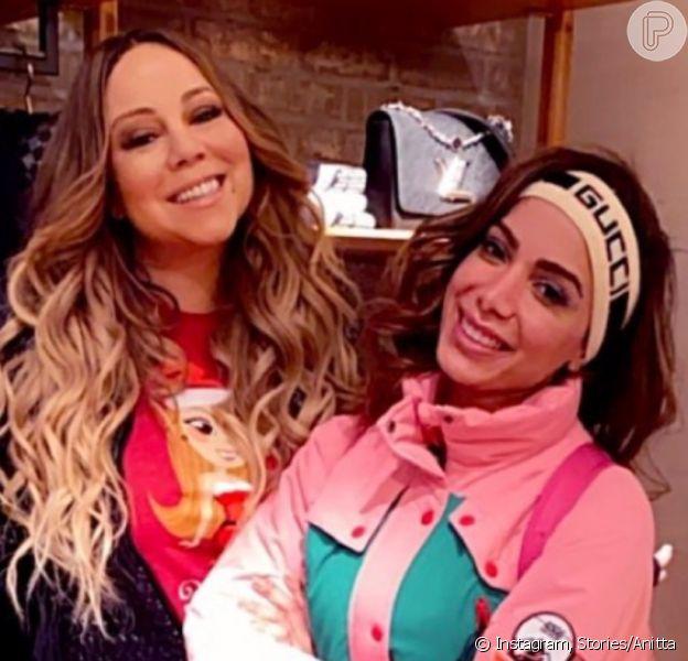 Anitta é elogiada por Mariah Carey após encontro em Aspen, nos EUA, em vídeo postado neste domingo, dia 22 de dezembro de 2019