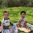 Antoine e Elise, filhos gêmeos de Erick Jacquin, comemoraram 1 ano