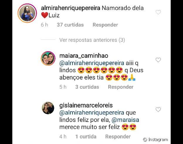 Mãe de Maraisa confirma namoro da filha com empresário Luiz Souza Lima