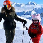 Frozen? Angélica e a filha, Eva, curtem férias na Suíça: 'Parceira de ski'