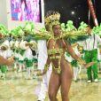 Iza marcou estreia na Sapucaí como rainha de bateria da Imperatriz Leopoldinense