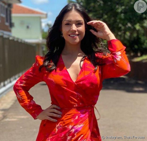 Look de Thais Fersoza em casamento chamou atenção do cantor Michel Teló
