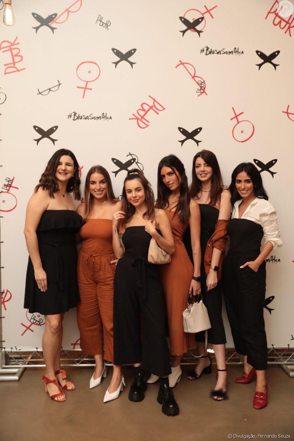 Influencers como Joana Canabrava, Bruna Unzueta, Giovana Ferrarezi, Lia Camargo e Jade Seba se reuniram no evento da Hering
