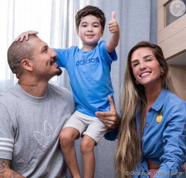 Aline Gotschalg e Fernando Medeiros presenteiam o filho, Lucca, com novo quarto
