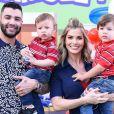 Filho mais novo de Gusttavo Lima e Andressa Suita, Samuel já quer ser músico como o pai