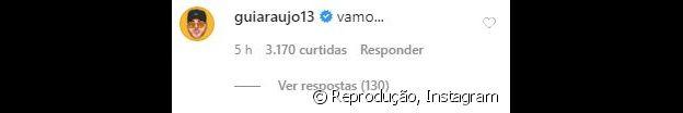 Gui Araújo responde ao convite de Anitta para treinar