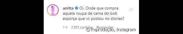 Anitta faz pergunta no Instagram de Gui Araújo e fãs shippam