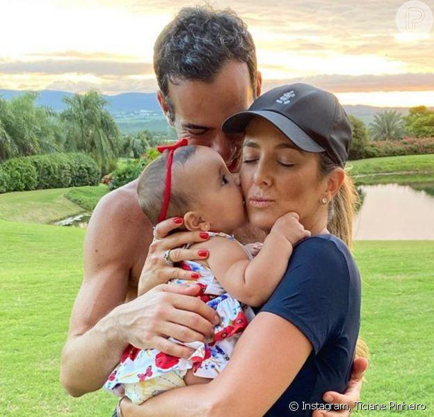 Ticiane Pinheiro falou sobre rotina com filha Manuella, de 9 meses, na quarentena