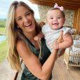 Ticiane Pinheiro comemorou primeiros passos da filha Manuela