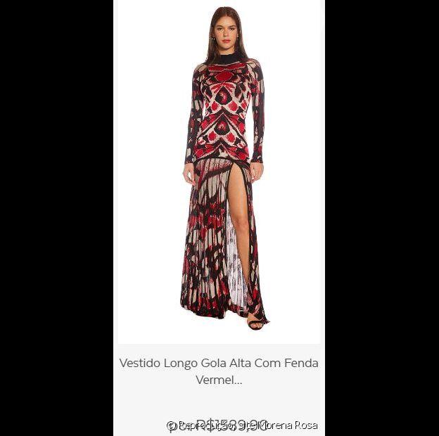 Munik Nunes usou um vestido da grife Morena Rosa
