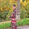 O vestido de Munik Nunes pode ser comprado no site oficial da grife Morena Rosa por pouco mais de R$ 1,5 mil