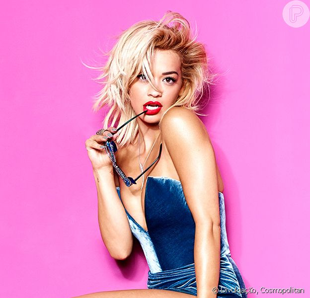 Rita Ora é a capa da revista 'Cosmopolitan' e fala sobre sexo, sensualidade e fim do namoro com Calvin Harris. As fotos foram divulgadas nesta terça-feira, 28 de outubro de 2014