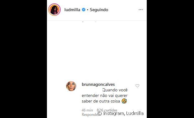 Ludmilla e a namorada, Brunna Gonçalves, reagiram após alfinetada por relacionamento