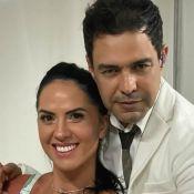 Graciele Lacerda posa de body e noivo, Zezé Di Camargo, avisa: 'Tudo meu'. Foto!