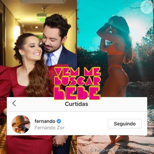 Fernando Zor curtiu foto de Rafa Kalimann de biquíni e Maiara terminou namoro
