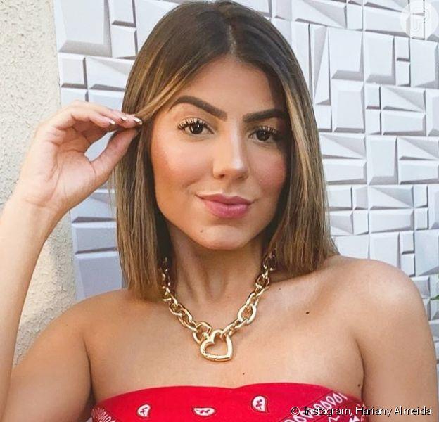 Hariany Almeida revela primeiro beijo em Netto em março de 2020