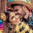 Hariany Almeida e DJ Netto tornaram namoro oficial e público no Dia dos Namorados, em junho de 2020