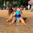 Camilla Camargo divide aprendizados da maternidade na web