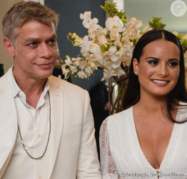 Fabio Assunção e Ana Verena oficializaram a união no civil em cerimônia íntima